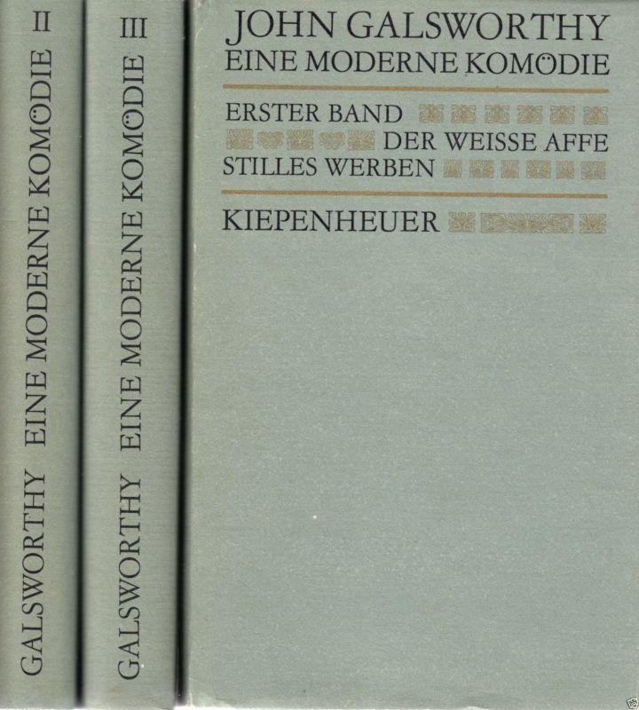 Galsworthy, John; Eine moderne Komödie, drei Bände, 1987