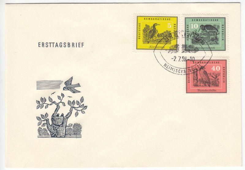 FDC (2), Mi.-Nr. DDR 698-703, o SSt, Berlin W 8, 2.7.59