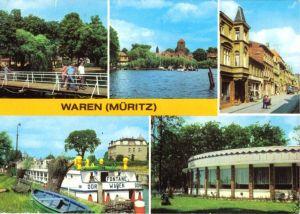 Ansichtskarte, Waren Müritz, fünf Abb., 1985
