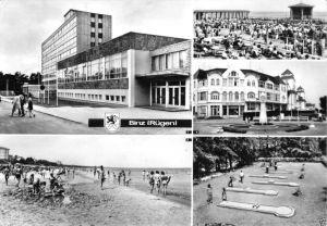 Ansichtskarte, Ostseebad Binz Rügen, fünf Abb., u.a. Minigolf 1979