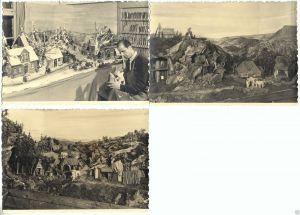 Lot von 3 Fotos im Ansichtskarte-Format, Frohnau, Schnitzstube