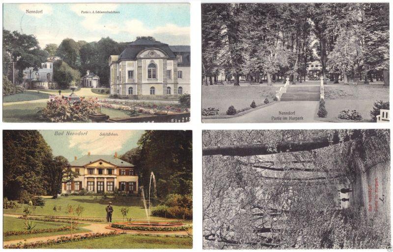 Acht Ansichtskarte, Bad Nenndorf, verschiedene Motive, um 1906/07