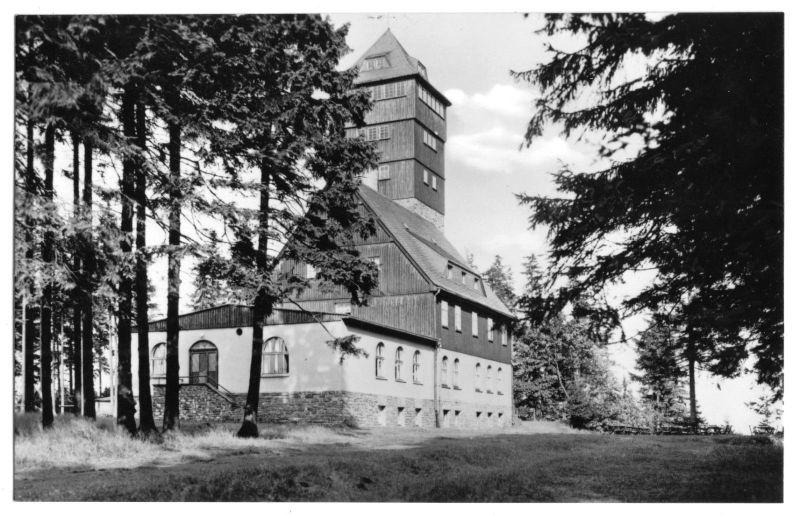 Ansichtskarte, Bärenstein Kr. Annaberg-Buchholz, Unterkunftshaus auf dem Bärenstein, 1960