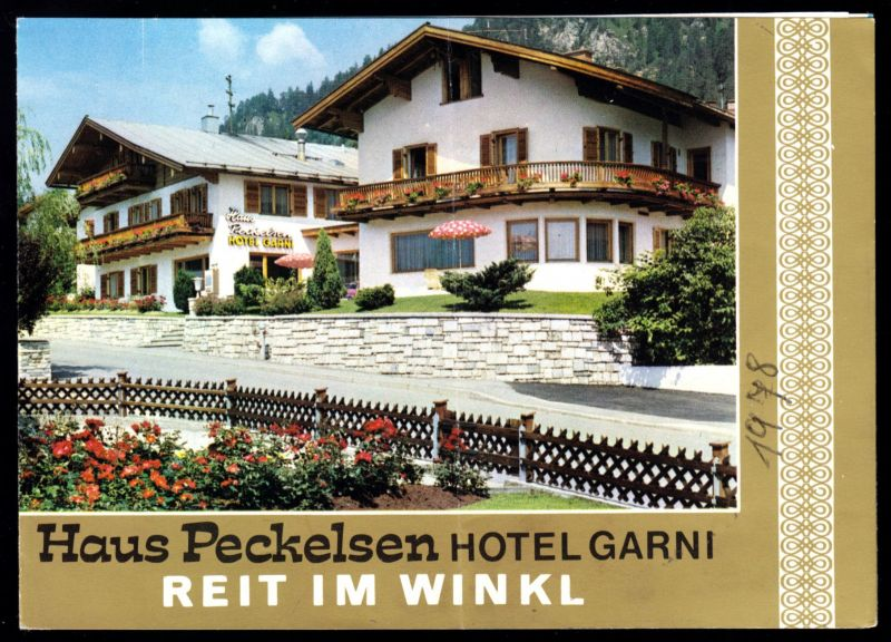 Tour. Prospekt, Reit im Winkel, Haus Peckelsen Hotel Garni, um 1978