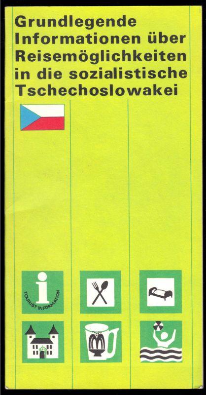 Grundlegende Informationen über Reisemöglichkeiten in die CSSR, 1978