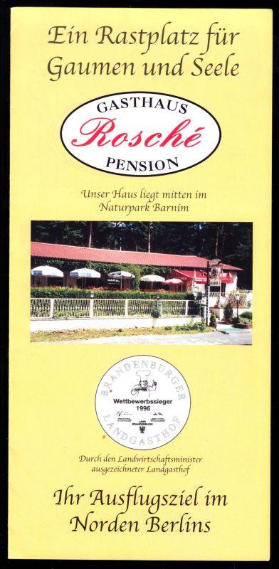 Tour. Prospekt, Wandlitz OT Stolzenhagen, Gasthaus - Pension Rosché, um 1998