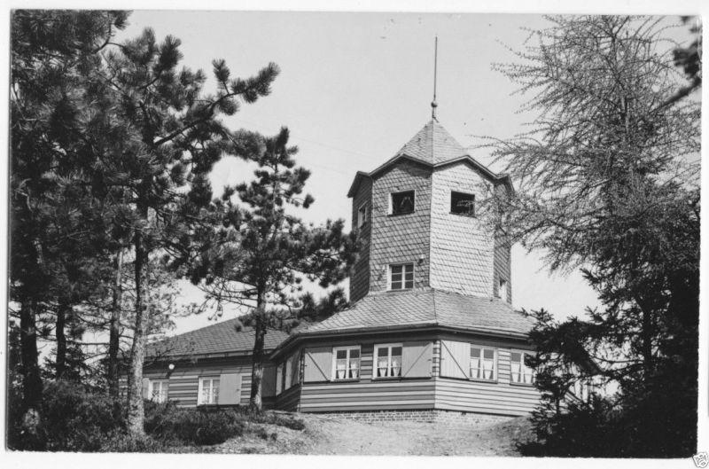 Ansichtskarte, Meuselbach-Schwarzmühle Thür. Wald, Meuselbacher Kuppe, Turmgaststätte, 1961
