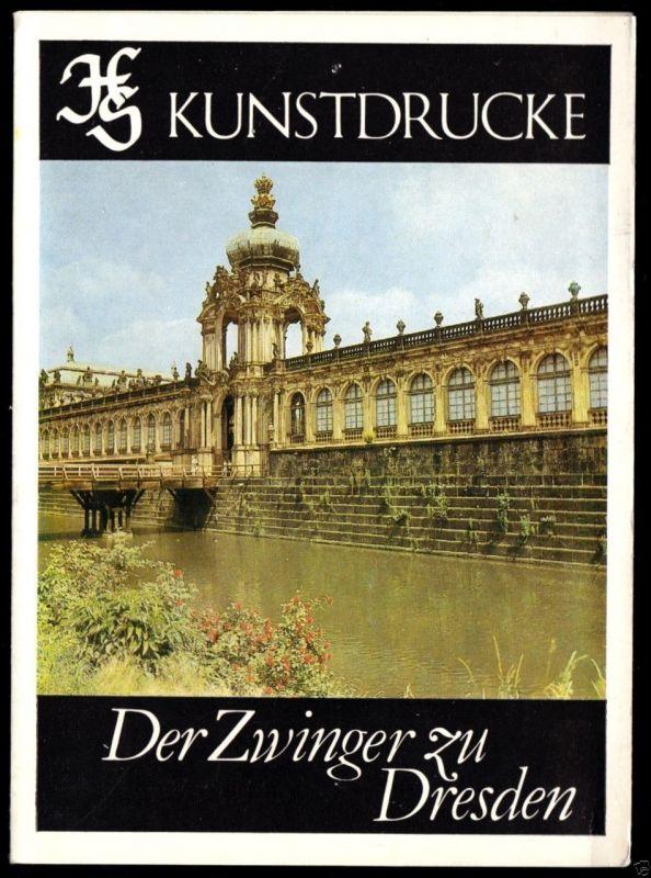 Kunstdruck-Leporello, Dresden, Der Zwinger zu Dresden, 1983