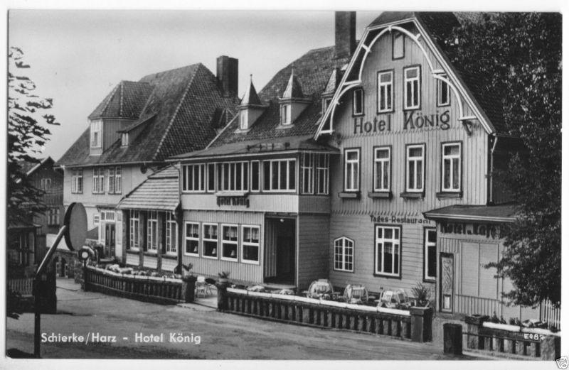 Ansichtskarte, Schierke Harz, Hotel König, 1961