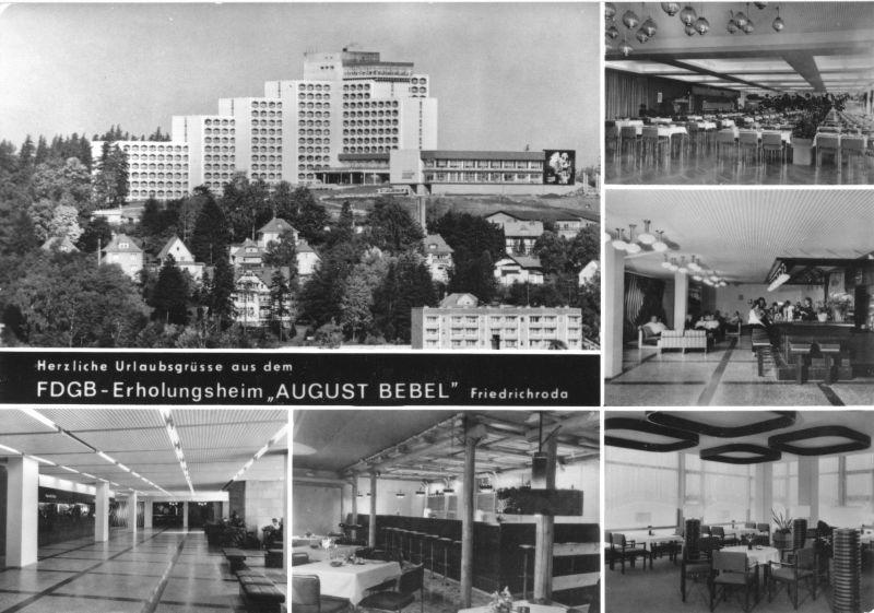 Ansichtskarte, Friedrichroda Thür. Wald, FDGB-Heim