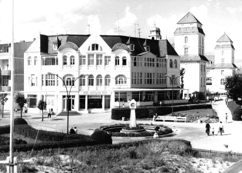 Ansichtskarte, Ostseebad Binz auf Rügen, Teilansicht, 1976