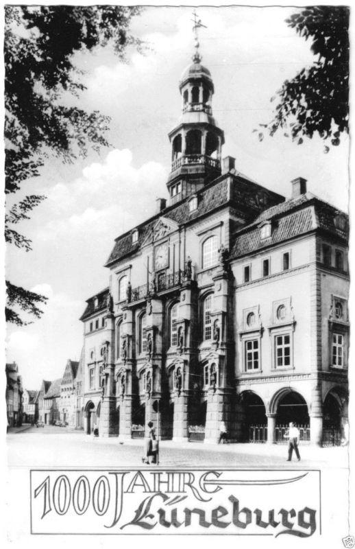 Ansichtskarte, Lüneburg, 1000 Jahre Lüneburg, Rathaus, 1958