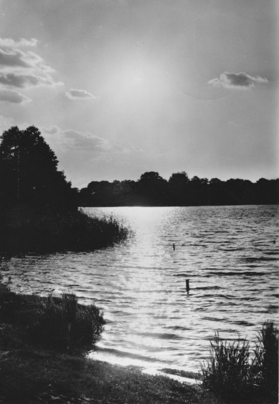 Ansichtskarte, Grünheide Mark, OT Fangschleuse, Abend am Werlsee, 1975
