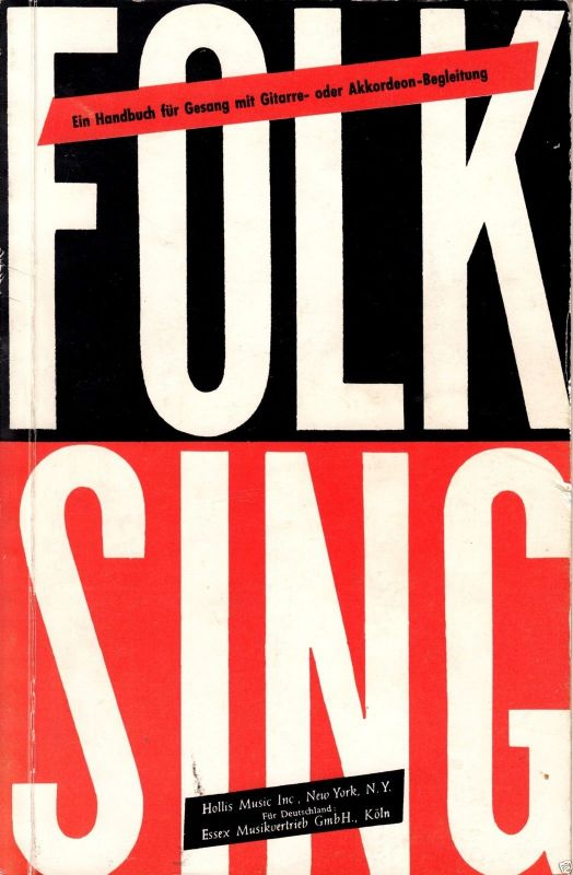 Folk Sing, Handbuch für Gesang mit Gitarre-  und Akkordeon-Bezifferung, um 1958
