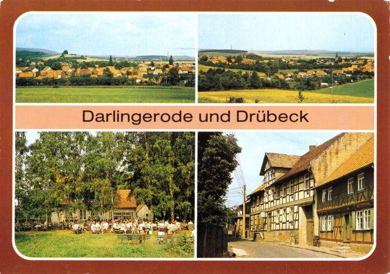 Ansichtskarte, Darlingerode und Drübeck, vier Abb., 1990