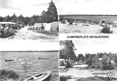 Ansichtskarte, Lohsa Kr. Hoyerswerda, Campingplatz am Silbersee