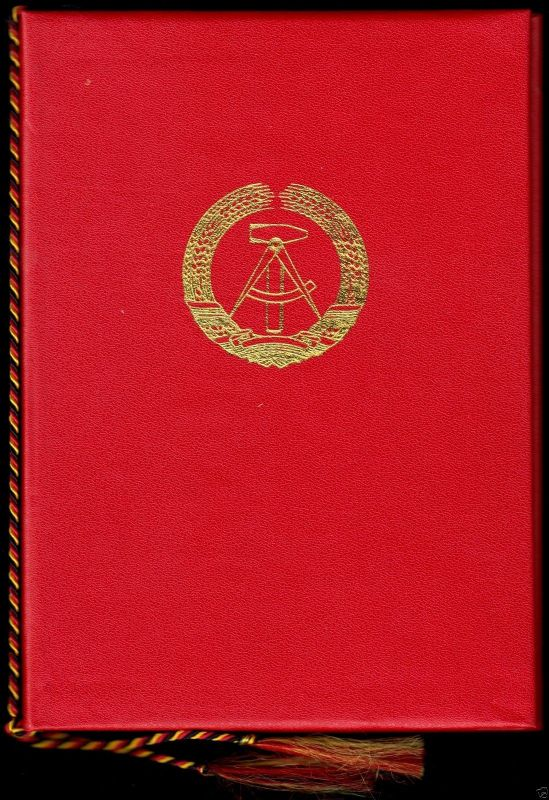 Urkunde, Auszeichnung mit Geldprämie, mit Mappe, 1987, Rat des Bezirkes Suhl 1