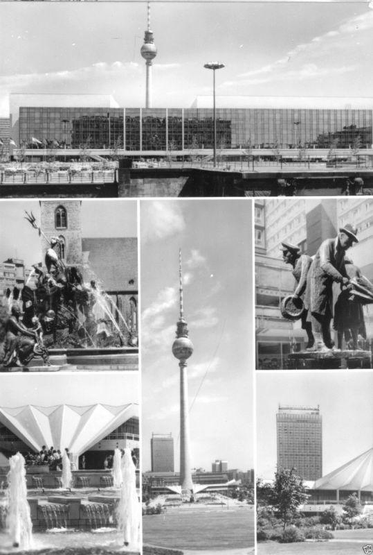 Ansichtskarte, Berlin - Hauptstadt der DDR, sechs Abb., 1978