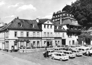 Ansichtskarte, Leutenberg Thür., Marktplatz, zeitgen. Pkw, 1970