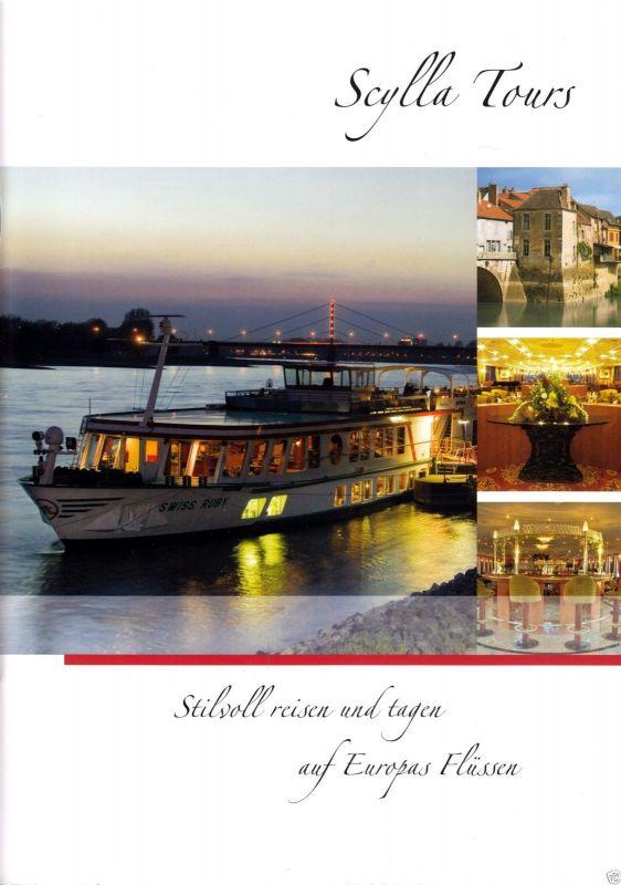 Werbebroschüre der Flußschiffahrts - Reederei Scylla Tours, um 2010