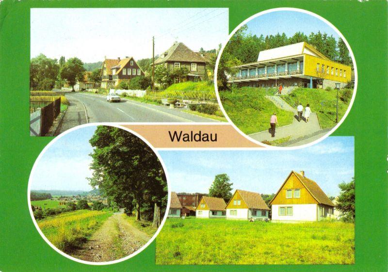 Ansichtskarte, Waldau Kr. Hildburghausen, vier Abb., 1982