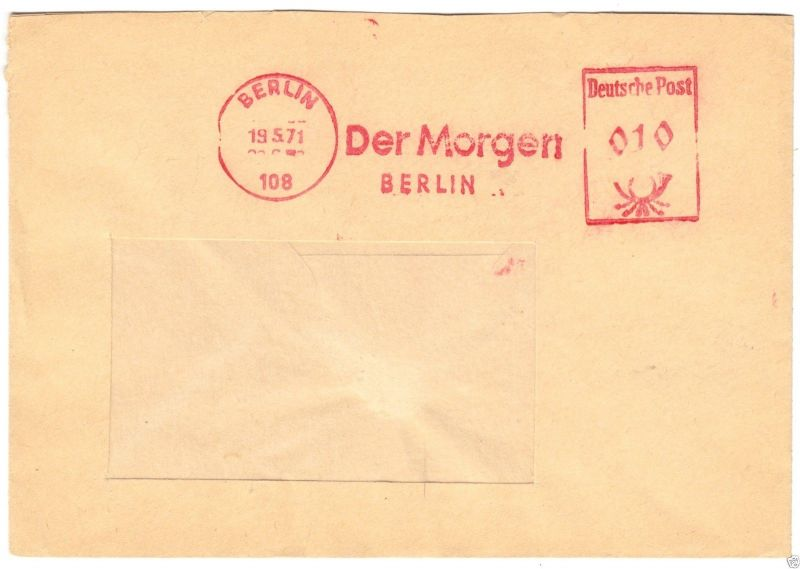 Veb Verlag Für Bauwesen Berlin O Berlin Afs 24.5.73 108