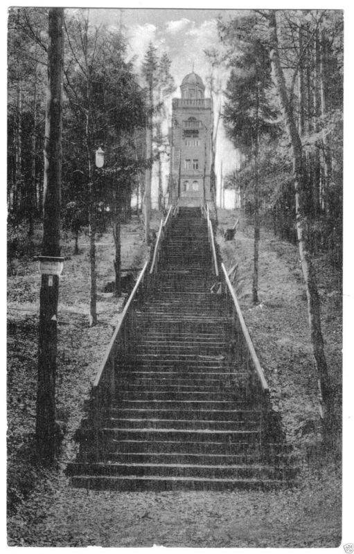 Ansichtskarte, Bad Schmiedeberg, Aufgang zur
