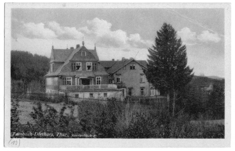 Ansichtskarte, Tambach-Dietharz Thür. Wald, Sonnenblick 2, um 1949