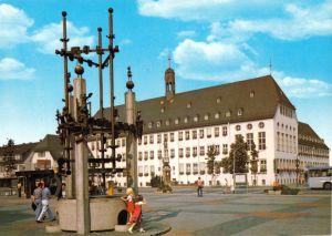 Ansichtskarte, Rüsselsheim am Main, Marktplatz und Rathaus, 1985