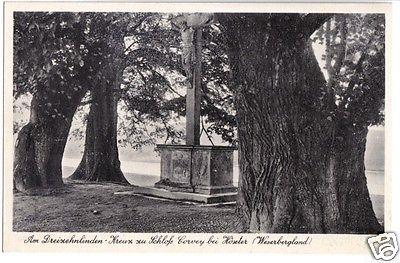 Ansichtskarte, Höxter Weserbergland, Am Dreizehnlinden-Kreuz zu Schloß Corvey, um 1936