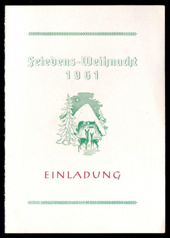 Einladung, Weihnachtsfeier 1961, VEB Plauener Damenkonfektion