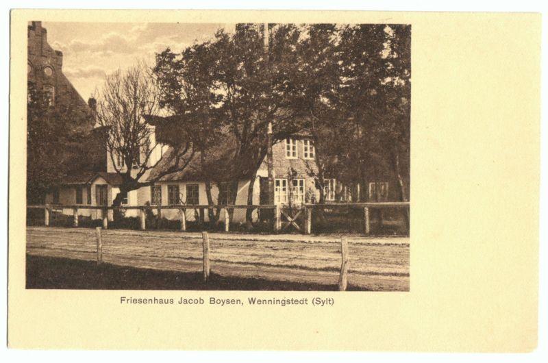 Ansichtskarte, Wennigstedt Sylt, Friesenhaus Jacob Boysen, 1926