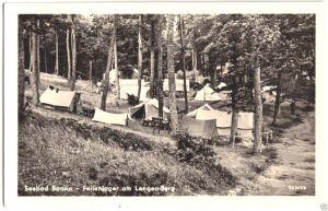 Ansichtskarte, Seebad Bansin auf Usedom, Ferien-Zeltlager am Langen-Berg, 1956