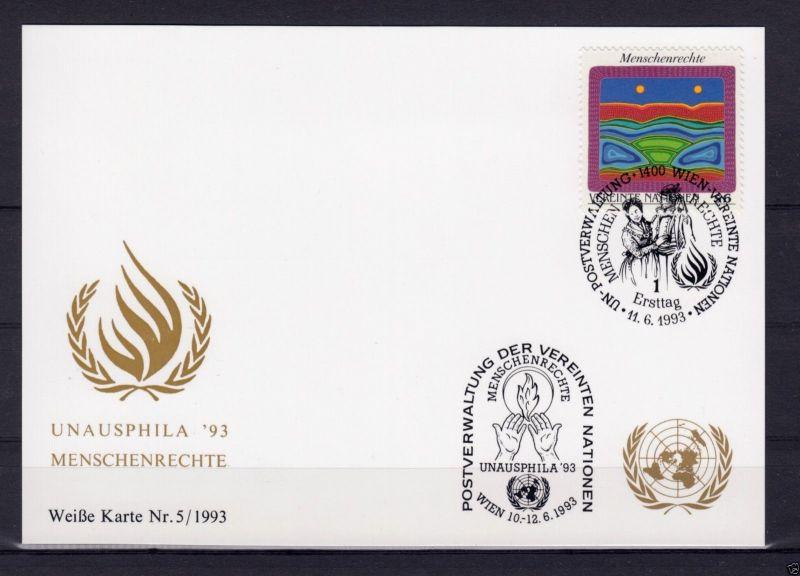 Michel-Nr. UNO Wien 151, Weiße Karte 133, o 1400 Wien, 11.6.1993