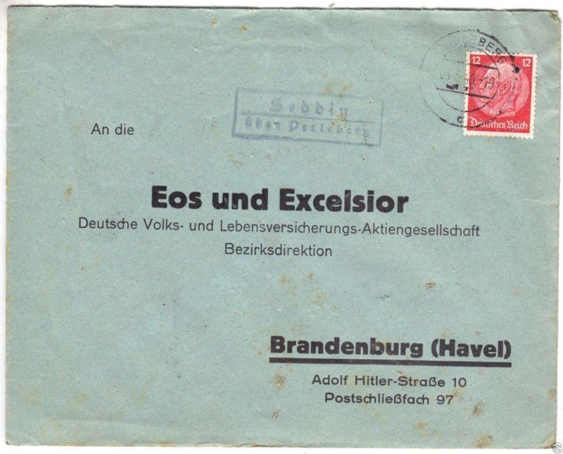Landpoststempel, Poststelle II, Seddin über Perleberg, Perleberg, 3.5.40