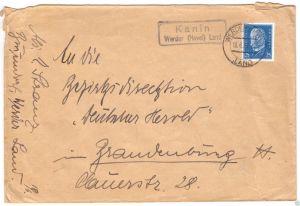 Landpoststempel, Poststelle II, Kanin Werder Havel Land, Werder (Havel), 18.6.32