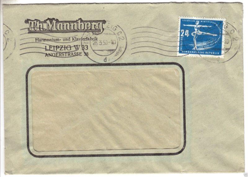 Bedarfsbrief, Mi-Nr. DDR 247, EF, o Leipzig C 2, 28.3.50