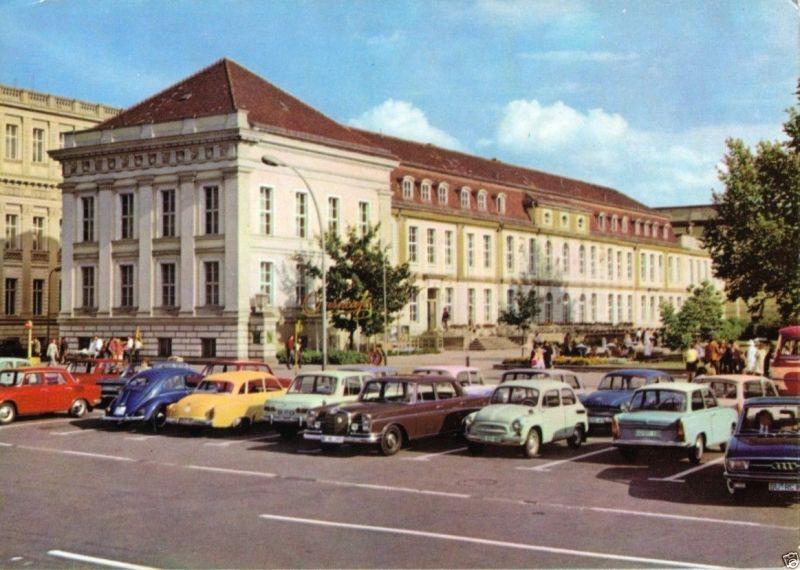 Ansichtskarte, Berlin Mitte, Operncafé, Unter den Linden, zeitgen. Pkw., 1971