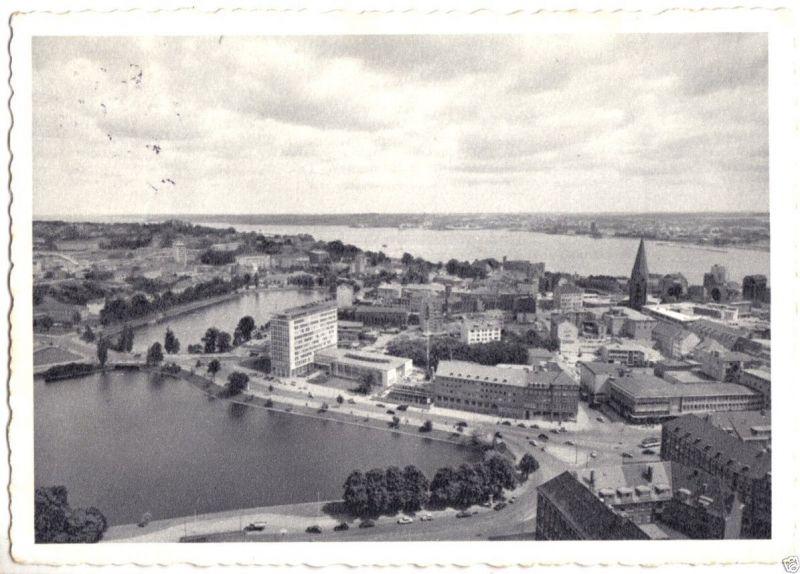 Ansichtskarte, Kiel, Teilansicht, Am kleinen Kiel, 1959