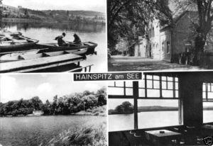 Ansichtskarte, Hainspitz am See, vier Abb., 1974