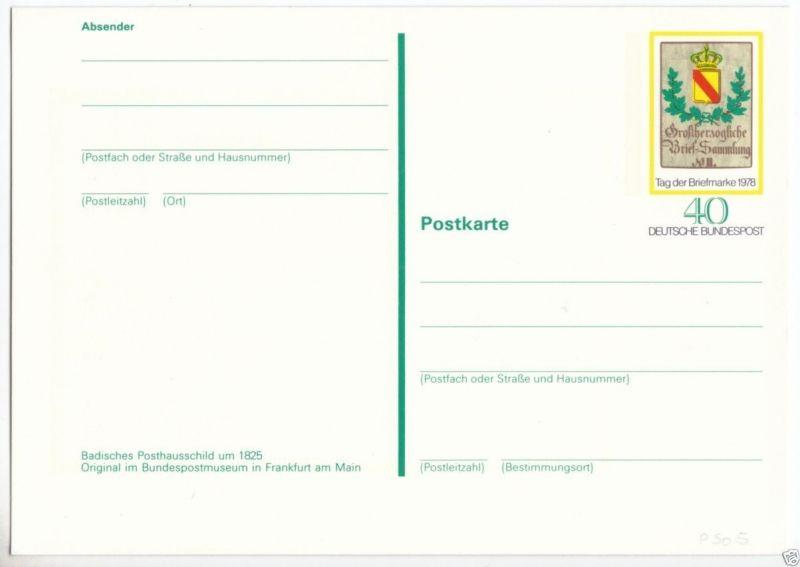 Ganzsache, Postkarte, Michel, BRD PSo 5, **