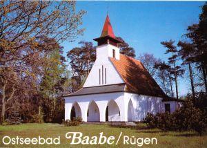 Ansichtskarte, Ostseebad Baabe Rügen, Kirche, 1992