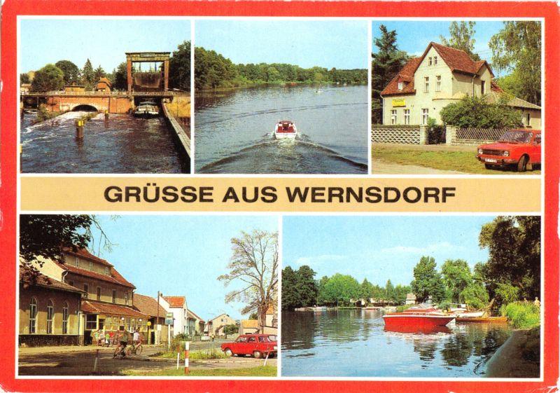 Ansichtskarte, Wernsdorf Kr. Fürstenwalde, fünf Abb., 1984