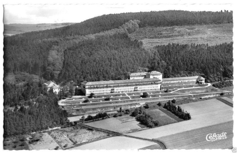 Ansichtskarte, Höxter Weser, Weserberglandklinik, Luftbildansicht, 1964