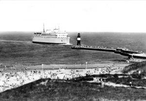 Ansichtskarte, Rostock Warnemünde, Fährschiff