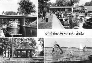 Ansichtskarte, Gruß aus Wendisch Rietz, vier Abb., 1972
