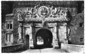 Ansichtskarte, Tübingen, Hohen-Tübingen, Äußeres Schloßportal, um 1961