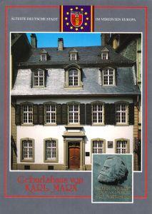 Ansichtskarte, Trier, Geburtshaus von Karl-Marx, zwei Abb., um 1989