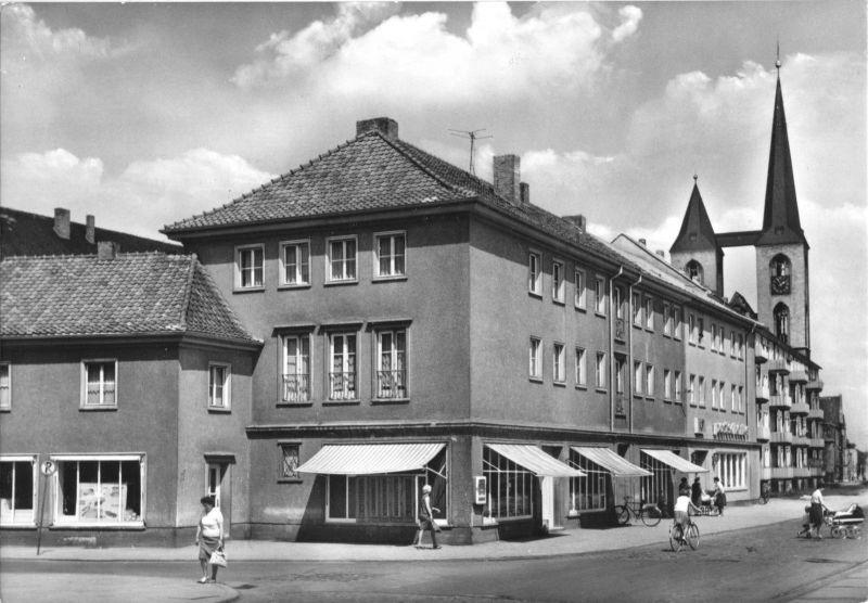 Ansichtskarte, Halberstadt, Schmiedestraße und Martinikirche, 1971