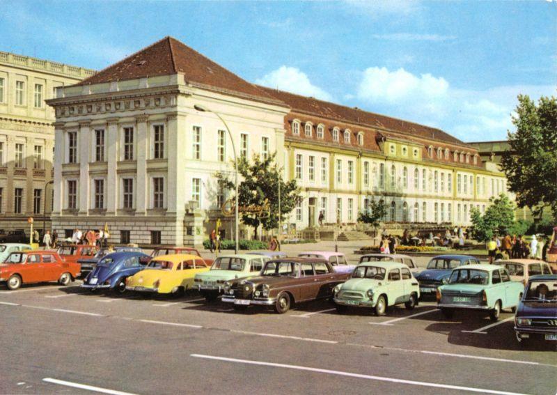 Ansichtskarte, Berlin Mitte, Blick zum Operncafé, zeitgen. Pkw, 1971